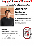 Boys Track and Field Senior Spotlight – Z. Nelson