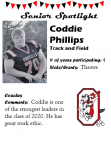 Boys Track and Field Senior Spotlight – C. Phillips