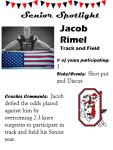 Boys Track and Field Senior Spotlight – J. Rimel