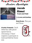 Boys Track and Field Senior Spotlight – J. Rimel