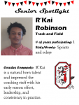 Boys Track and Field Senior Spotlight – R. Robinson