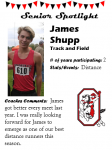 Boys Track and Field Senior Spotlight – J. Shupp