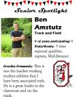 Boys Track and Field Senior Spotlight – B. Amstutz