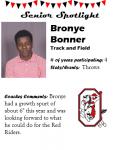 Boys Track and Field Senior Spotlight – B. Bonner