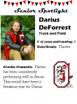 Boys Track and Field Senior Spotlight – D. DeForrest