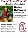 Boys Track and Field Senior Spotlight – D. DeForrest