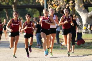 Cross Country at League Meet #1 at Whittier Narrows on Sept 6