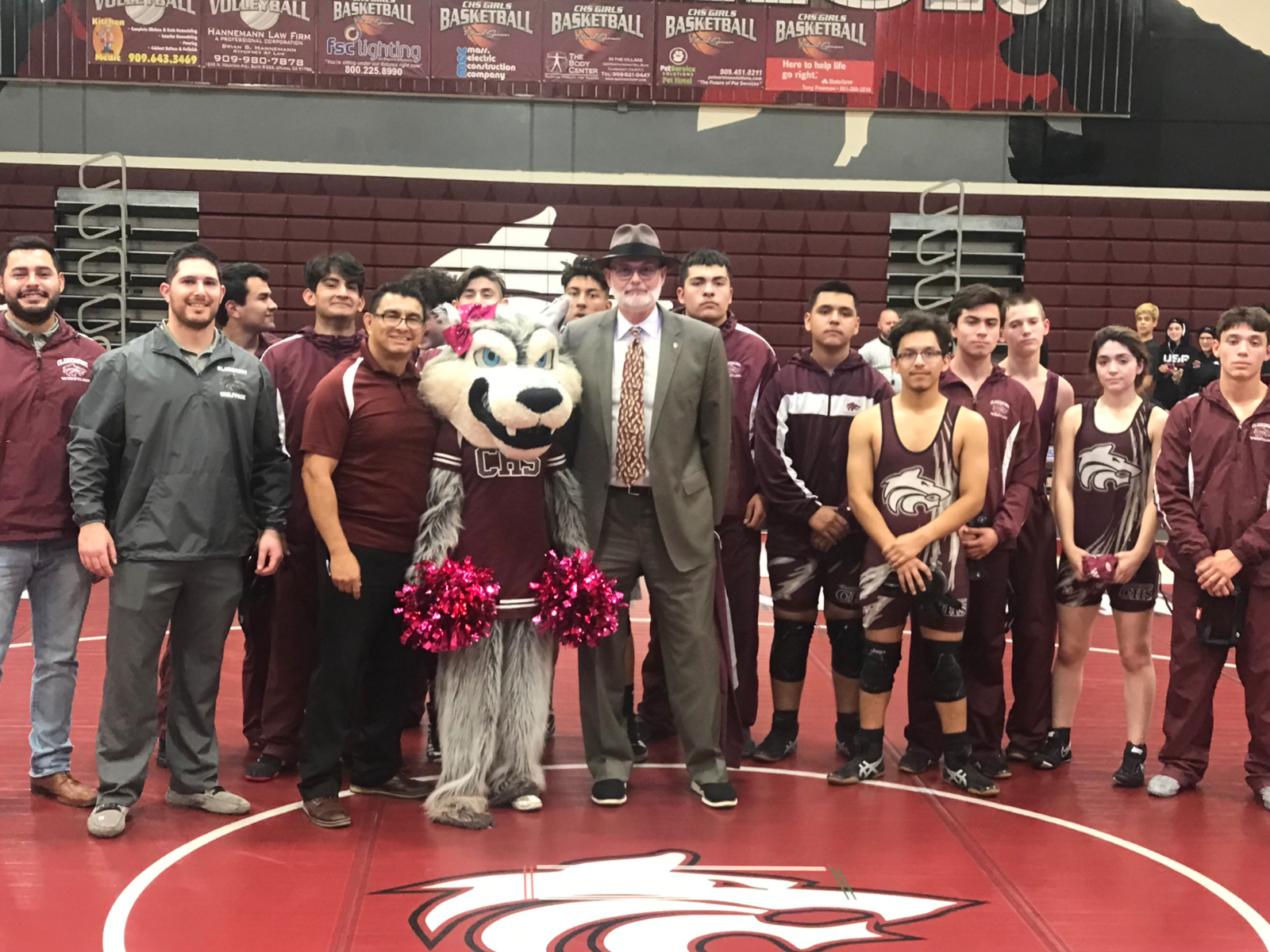 Claremont Rotary honored at Pack Wresting Match!!
