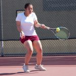 Girls Varsity Tennis finishes first half of league undefeated