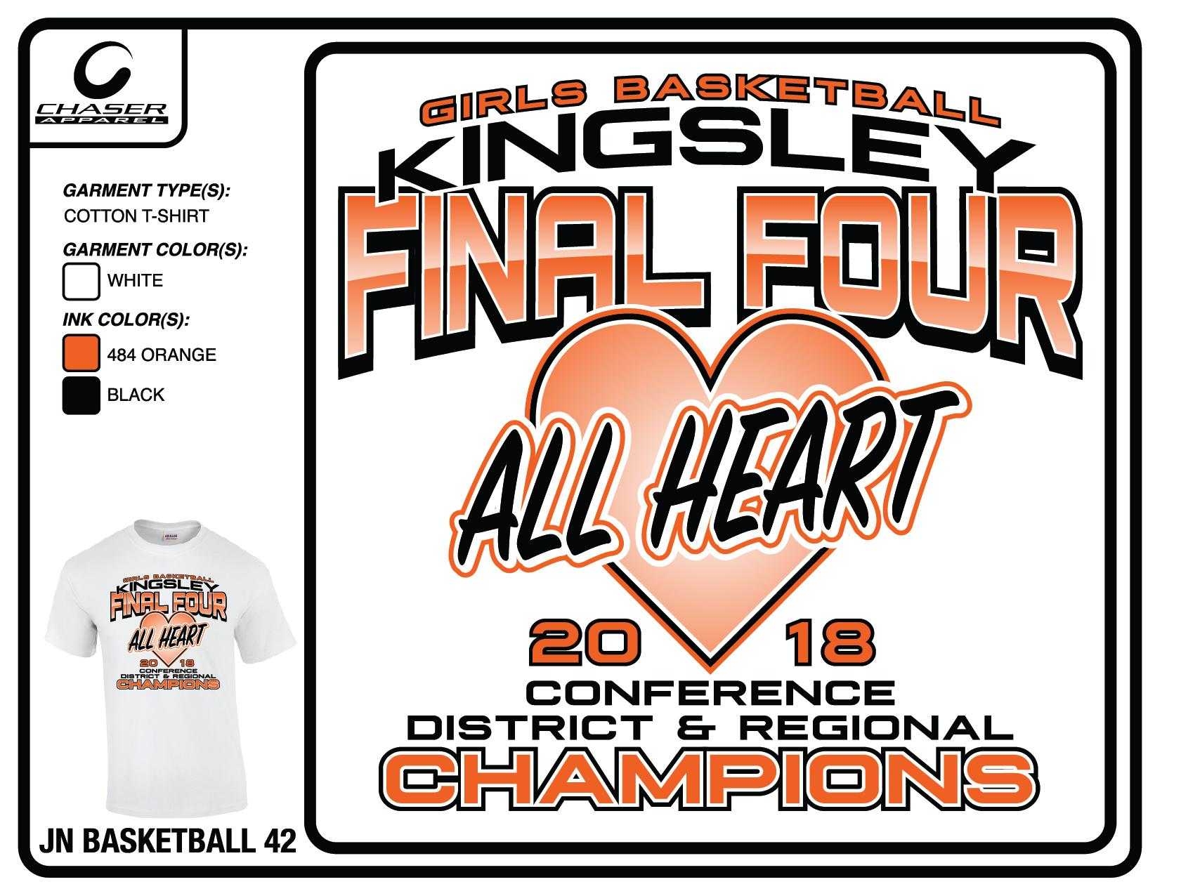 Kingsley Girls' Basketball Shirts ON SALE – Thursday, March 15