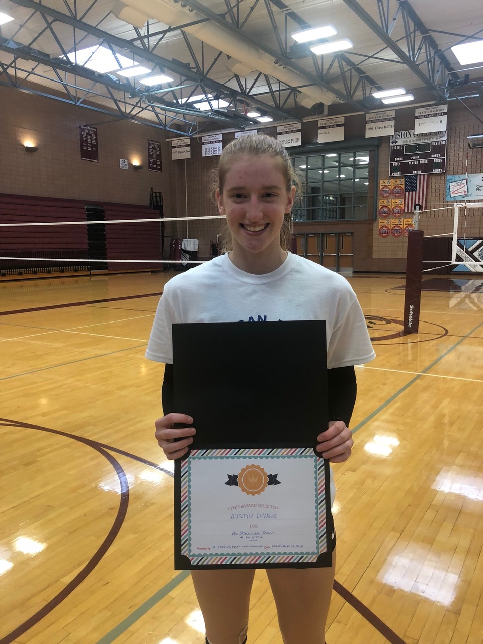 Austyn DeWeese Named Michigan Prep VB Recruiting Showcase MVP!