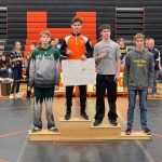Aidan Shier Wins Mid-Michigan Conference Championship at 119lb Weight Class.  Martindale 2nd, Smith 3rd, Patterson 4th