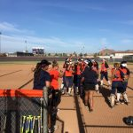 Eleanor Roosevelt High School Varsity Softball beat King, Martin Luther 5-3