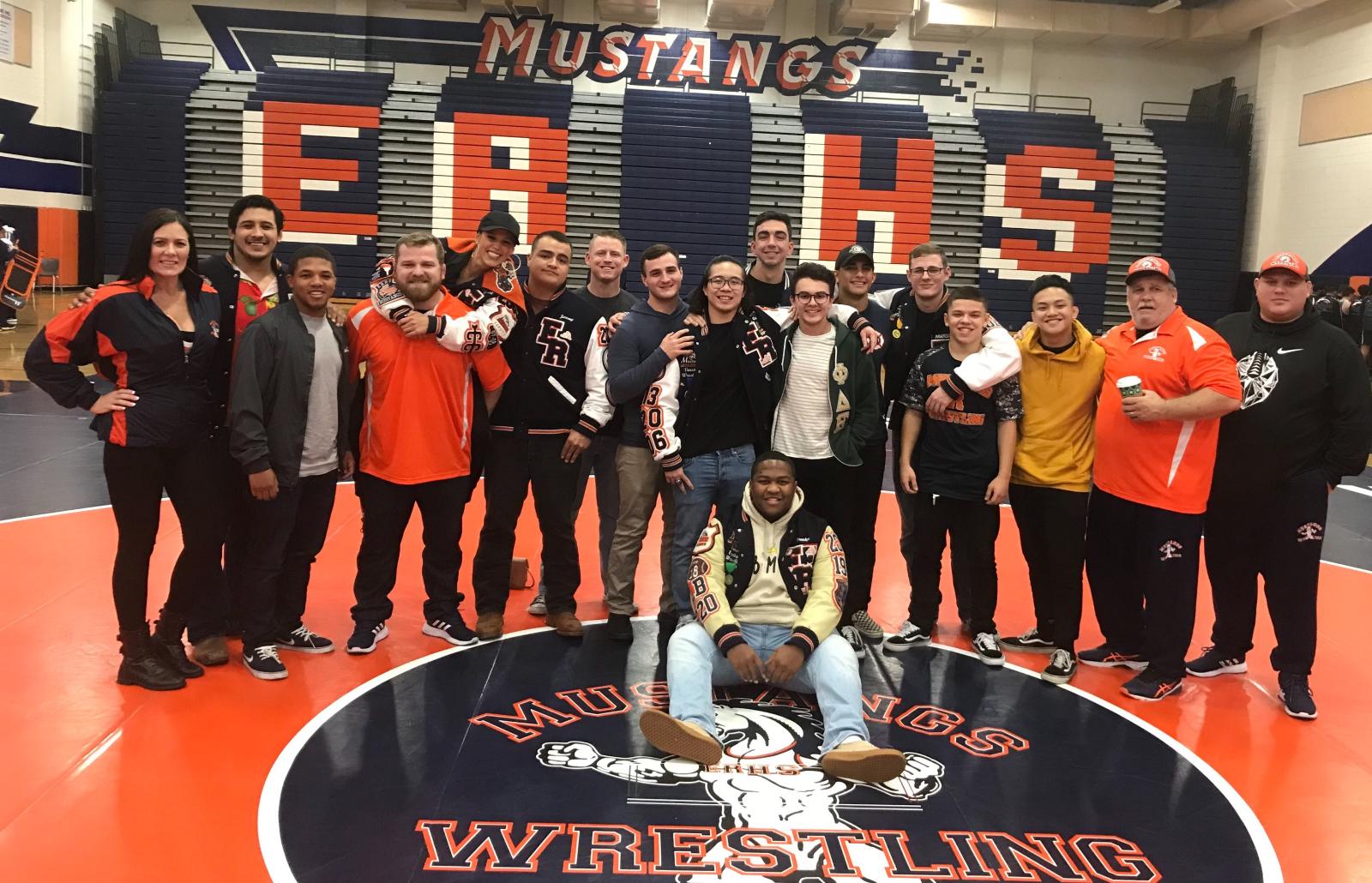 Mustangs Varsity & JV Wrestling surfs over Santiago Sharks to Victory!