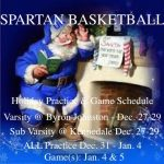 Spartan Hoops Holiday Schedule