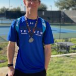 Noah Barron Earns Second Place Medal at the Arlington High School Tennis Tournament