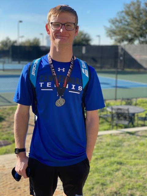 Noah Barron Earns Second Place Medal at the Arlington High School Tennis Tournament