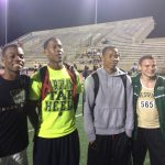Boys 4X100 Team Breaks School Record at County