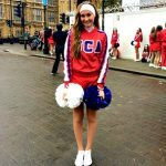 WHS Cheerleader, Jensen Bailey, performs in London's 2015 New Year's Day Parade with All-American Cheerleaders