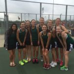 Girls Varsity Tennis finish 5th in HCC conference