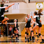 Westfield High School Girls Varsity Volleyball beat Noblesville High School 3-2