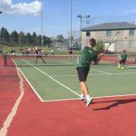 Boys Varsity Tennis scrimmage Guerin Catholic