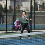 Girls Varsity Tennis drop match to Heritage Christian