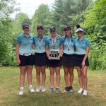 Girls Varsity Golf finishes 1st place at Western Invite (V)