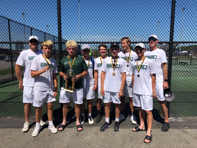 Boys Varsity Tennis finishes 1st place at Shelbyville Invite