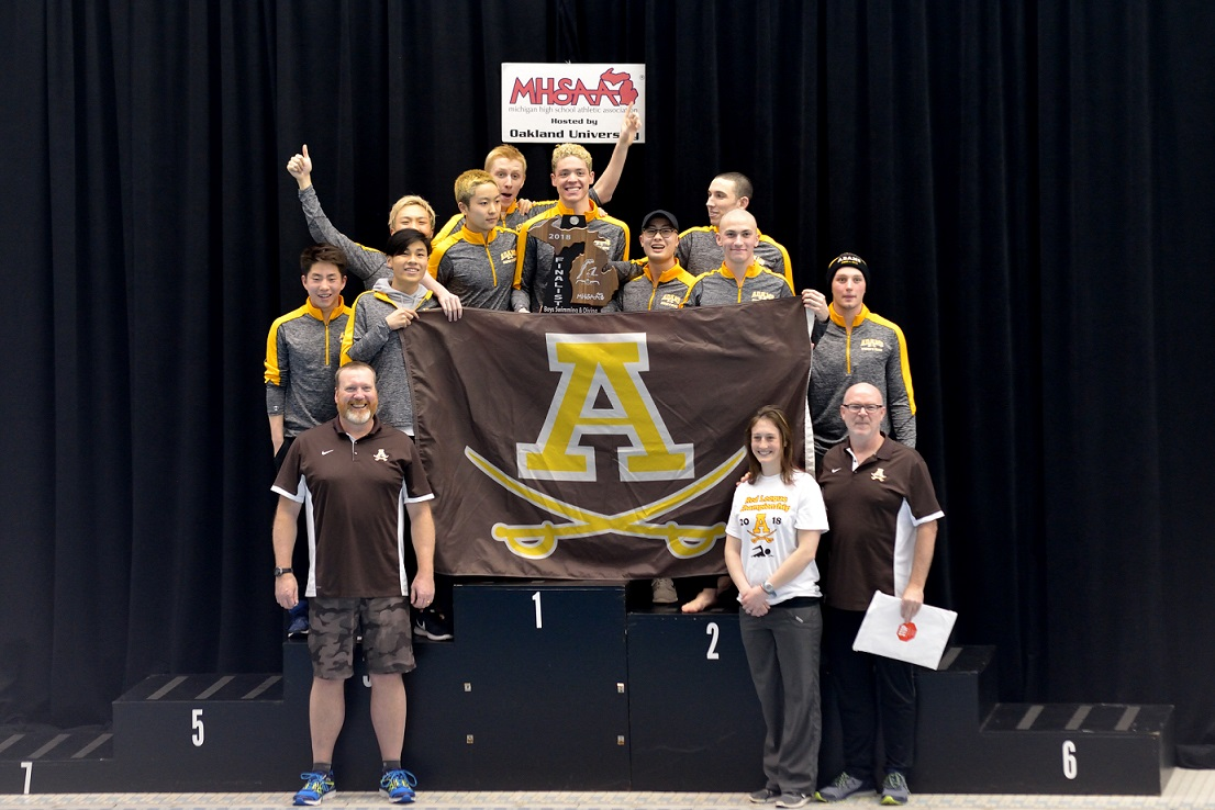 Boys Swim/Dive Finishes as State Runner-up