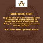 NEW: WINTER SPORTS UPDATE INFORMATION