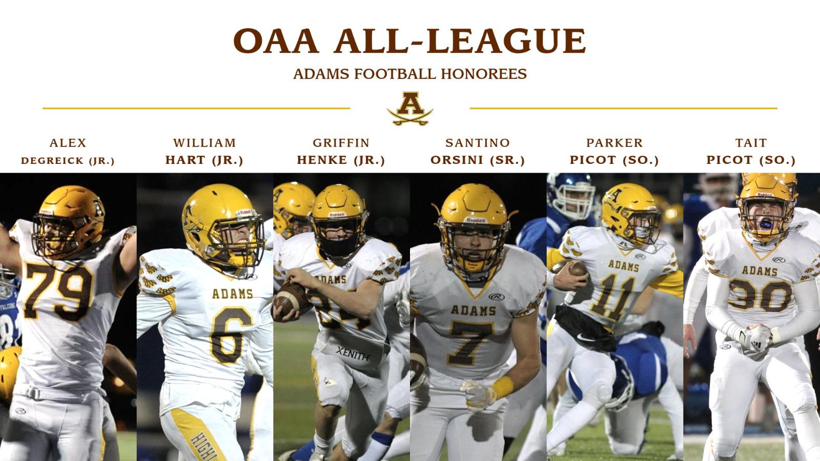 Adams High School Football All OAA Honors