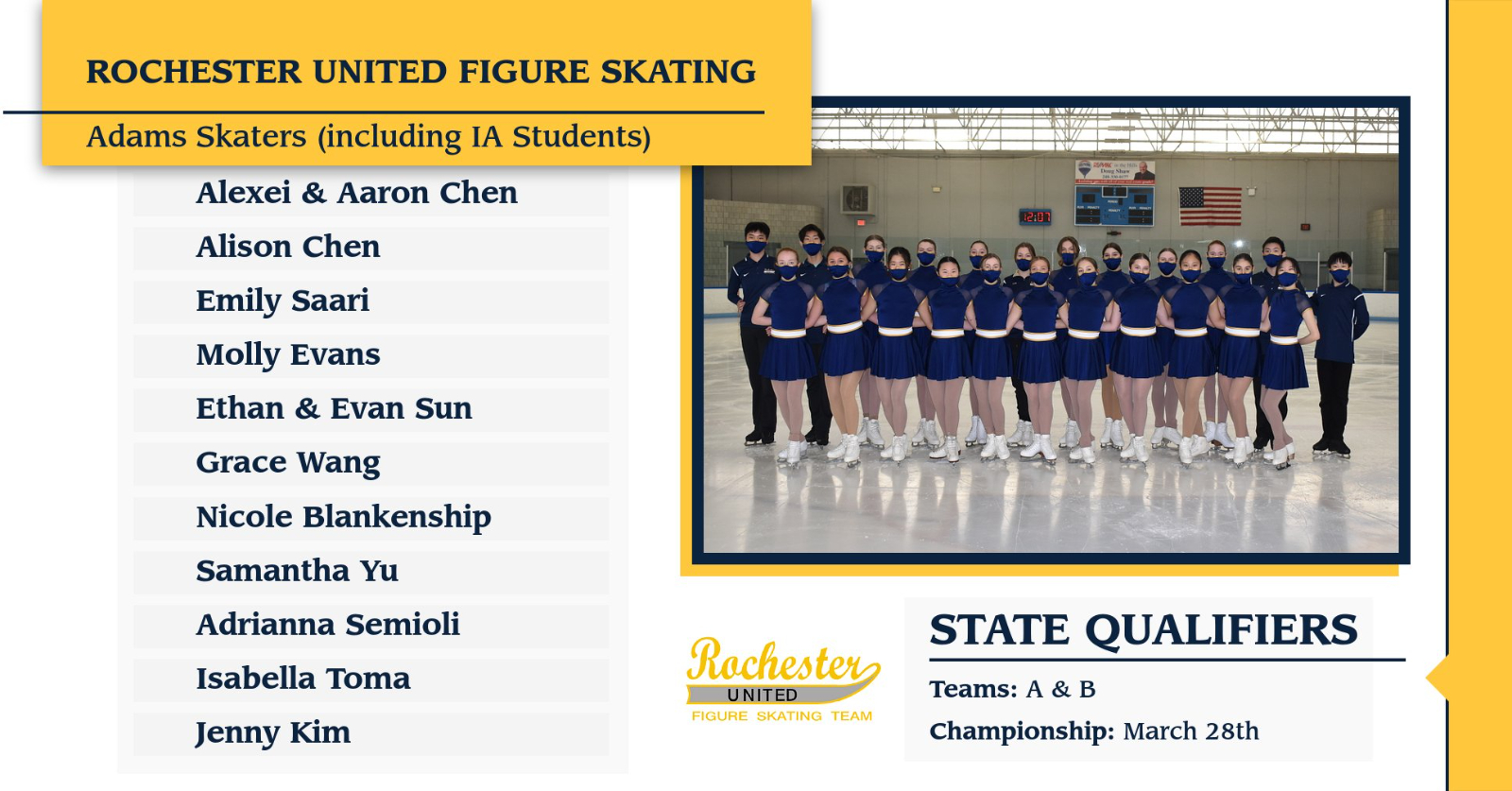 Highlander Heroics: United Figure Skating Qualifies for States