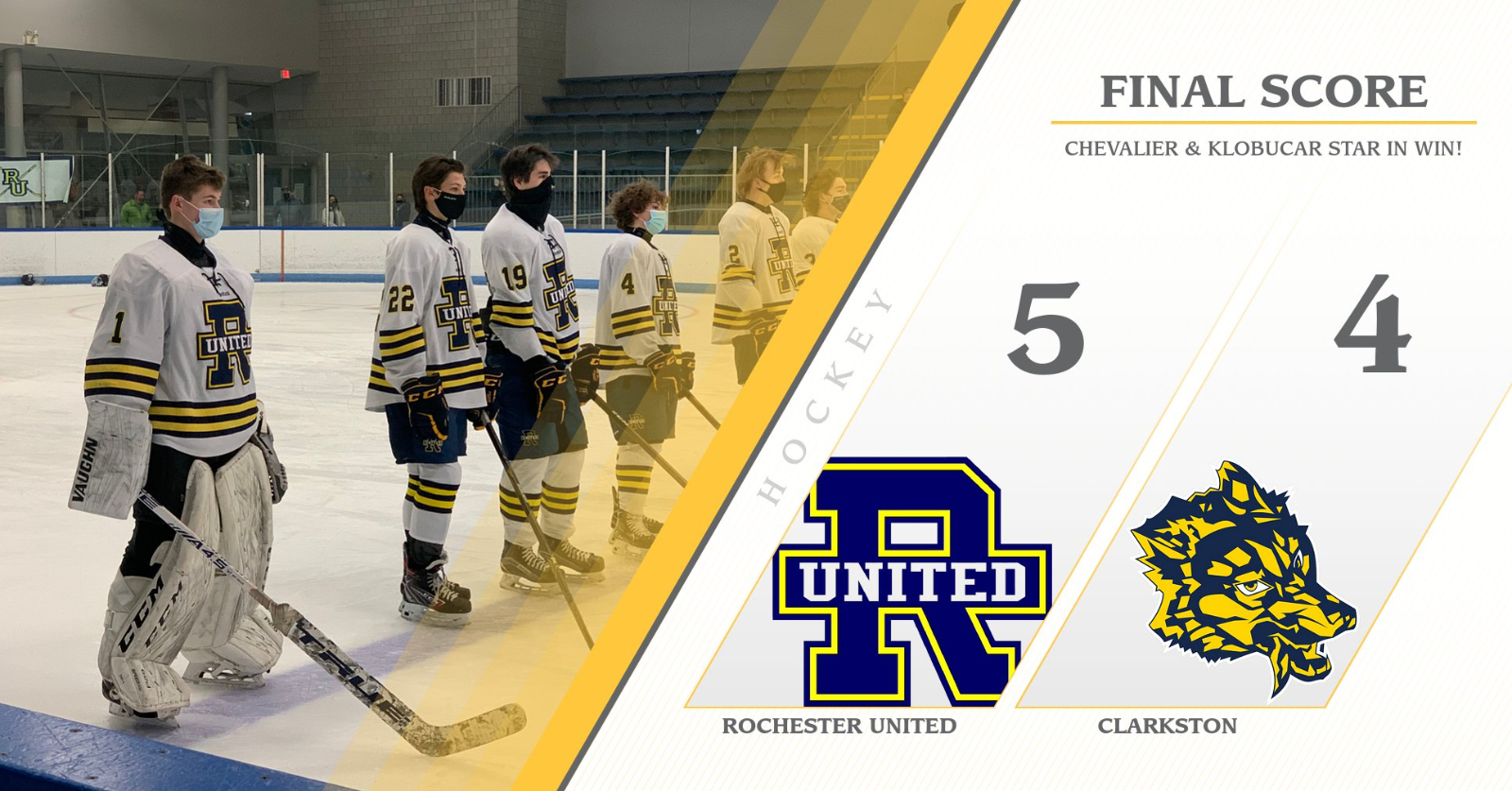 Hockey wins with last second goal!