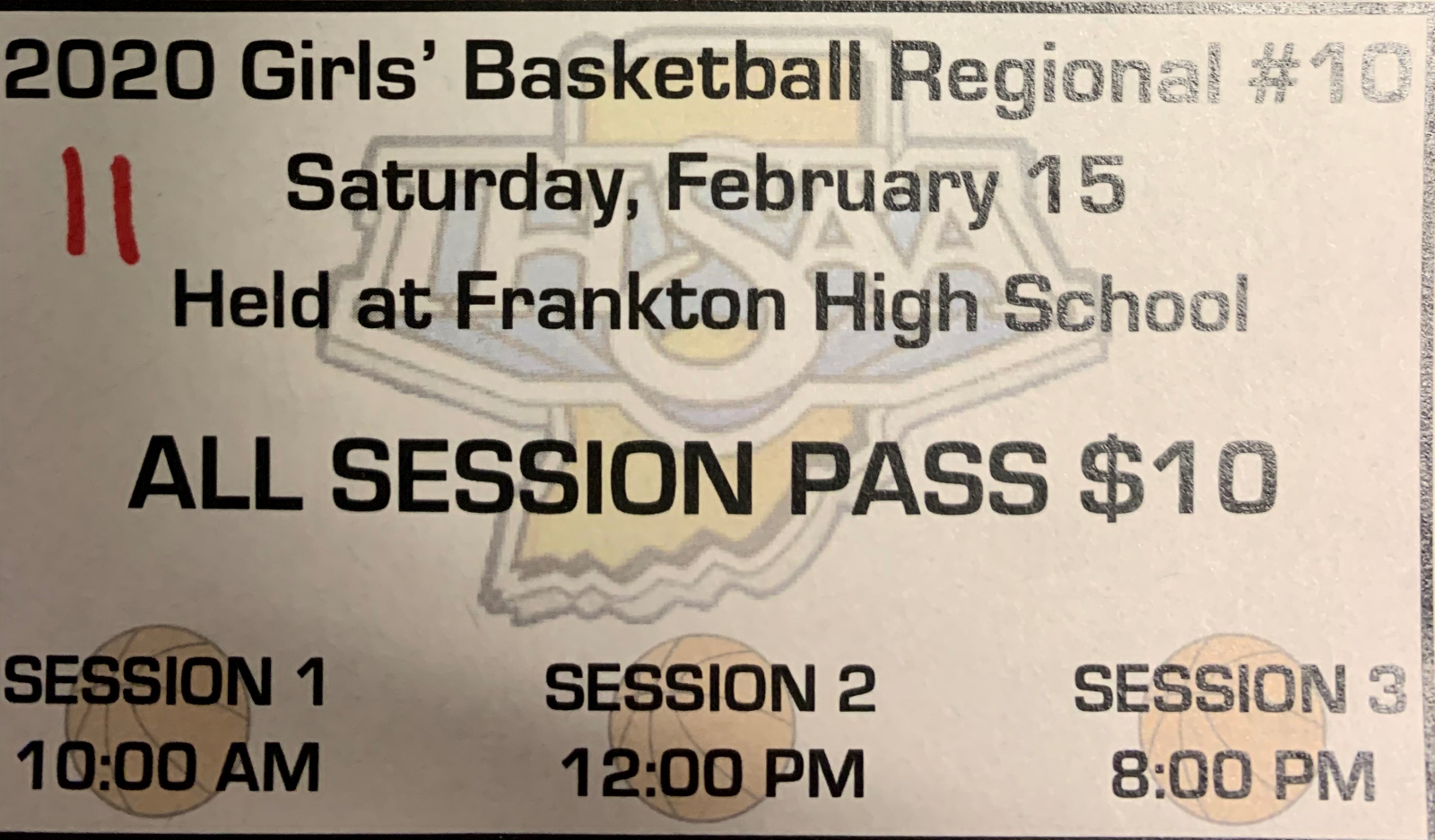 Regional Girls Basketball Presale Tickets