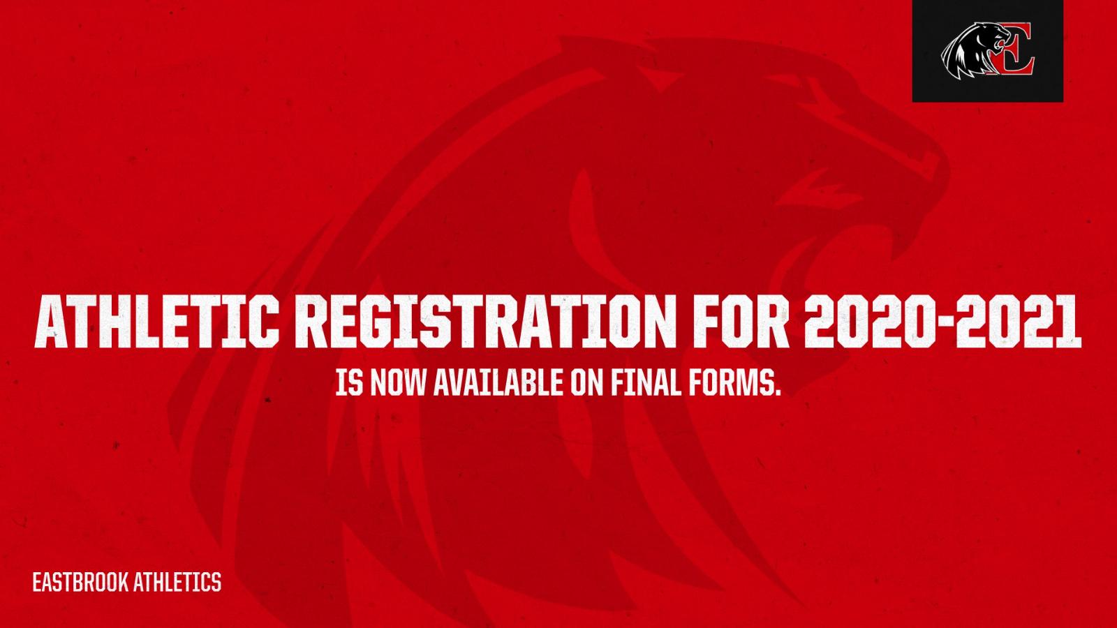 2020-2021 Athletic Registrations