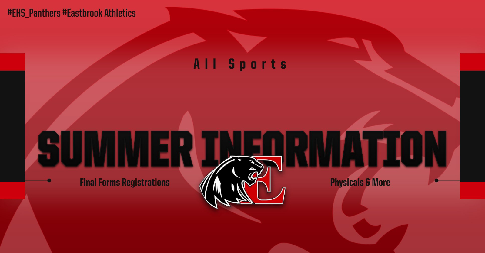 Athletic Registrations and Physicals Due by July 6th for Summer Conditioning
