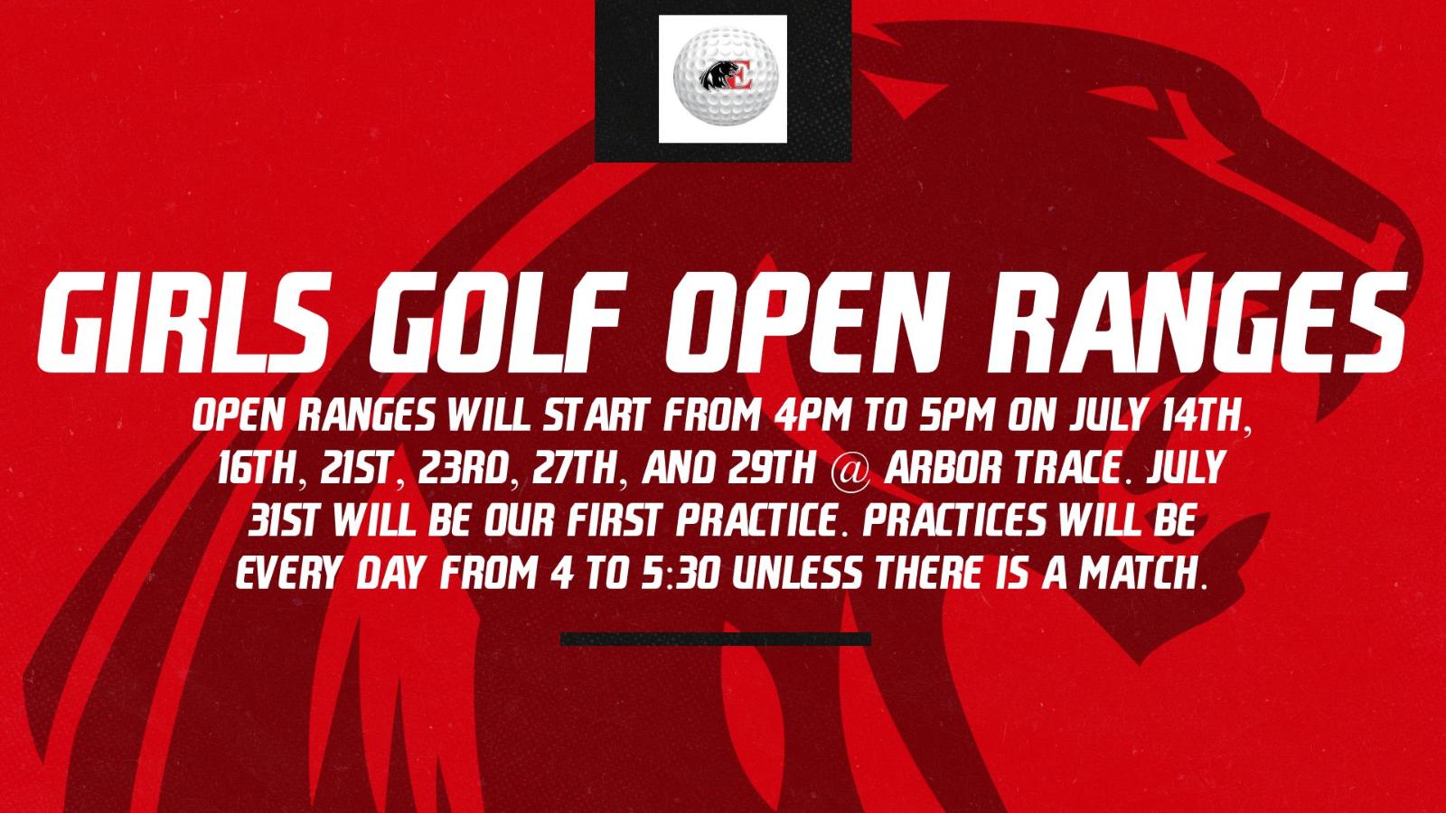 Girls Golf Open Ranges