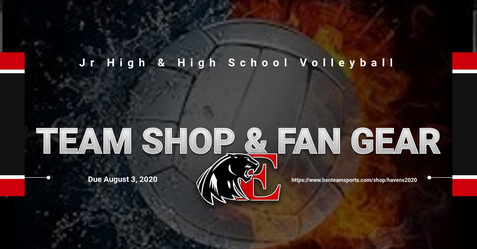 Jr. High & High School Volleyball Team Shop and Fan Gear