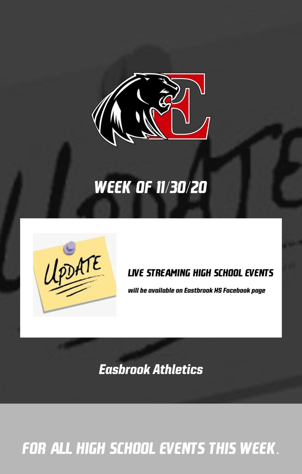 Streaming of Panther Athletics