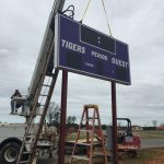New Soccer Complex Scoreboard Goes Up