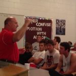 Sports Psychologist Dr. Carr Talks To The Football Team