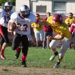 JV Football Finds Open Running Lanes Against Scecina