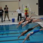 Girls Swimming and Diving Travel to Lawrence Central