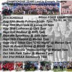 Cardinal RItter Football Schedule
