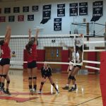 Volleyball Crushes Crusaders