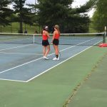 Girls Tennis Plays At A Windy Franklin Central