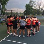 Tennis Wins Lob-Sided Victory