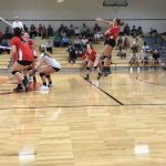 Raiders Volleyball Wins ICC Match