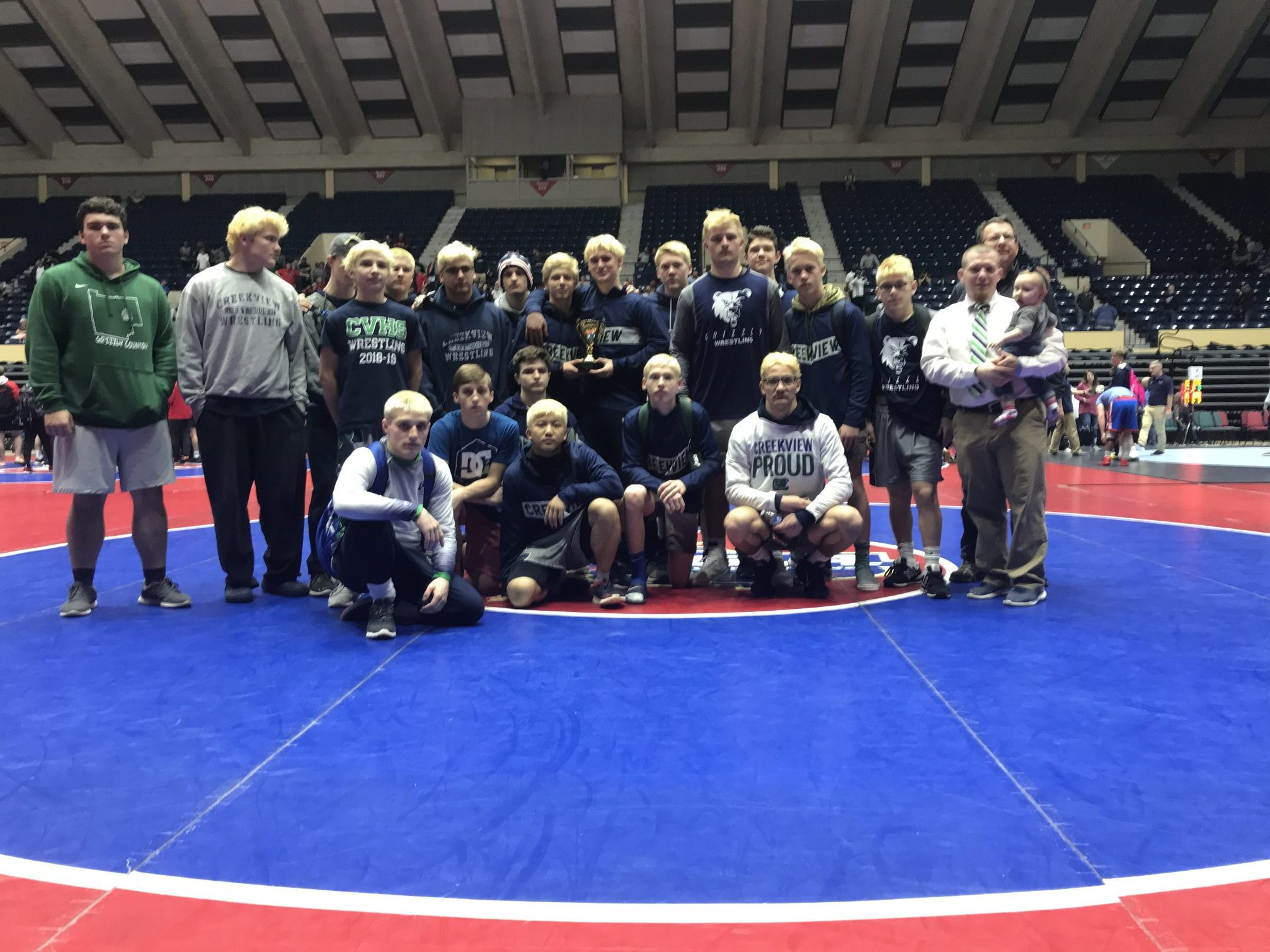 Grizzlies Earn Their 2nd Consecutive State Duals Placement!!